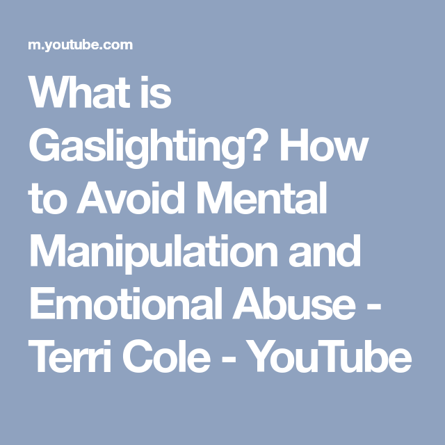 What is Gaslighting? How to Avoid Mental Manipulation and ...