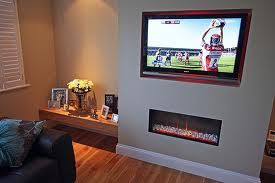 Built In Tv Wall And Fire Place Thuis Woonkamer Woonideeën Interieur