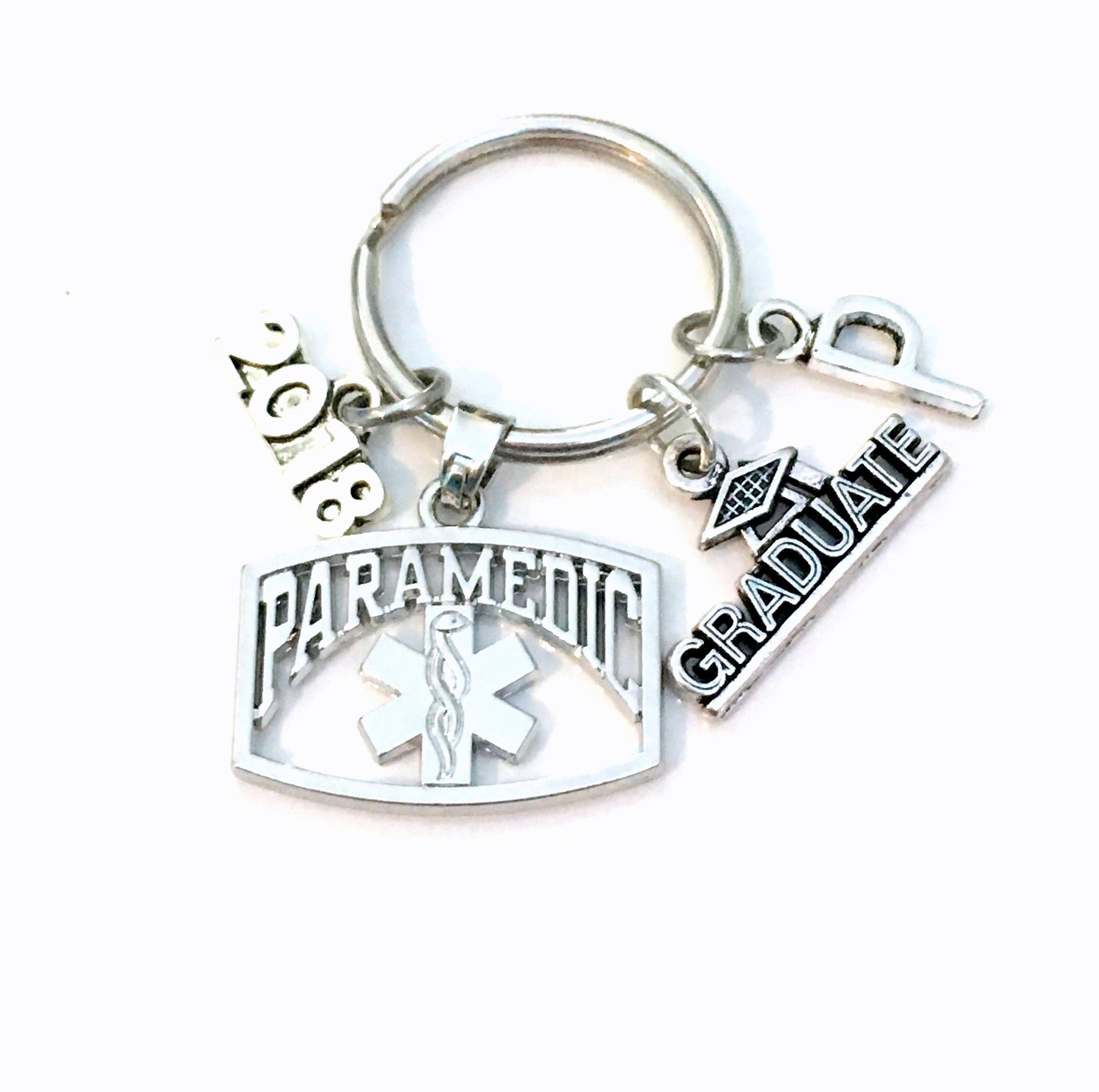 Paramedic Graduation KeyChain, 2018 or 2017 EMT Grad
