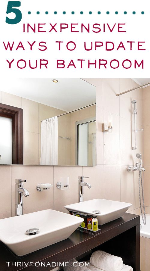 Inexpensive Ways To Update Your Bathroom DIY Ideas Pinterest - Inexpensive ways to remodel a bathroom