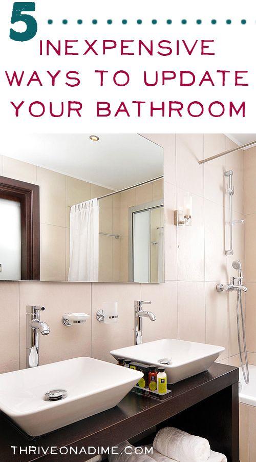 Inexpensive Ways To Update Your Bathroom DIY Ideas Pinterest - Cheap ways to update bathroom