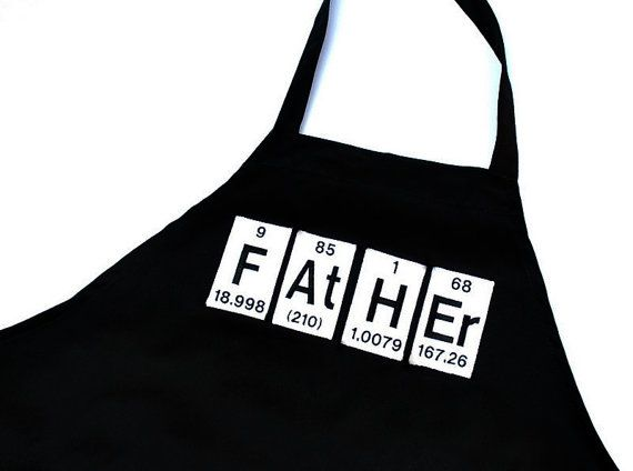 Father periodic table elements black mens grill apron periodic periodic table of the elements grilling apron yellowbugboutique this would make such a great fathers day or birthday gift for my dad whos a chemist urtaz Images
