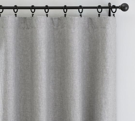 Classic Belgian Flax Linen Curtain, Cotton Lining, 50 X