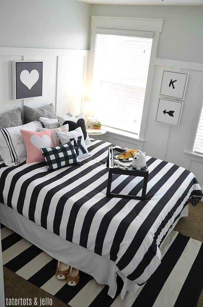 Black And White Kids Bedroom Ideas And Printables White Girls Bedroom White Bedroom Design Pink Bedroom Decor