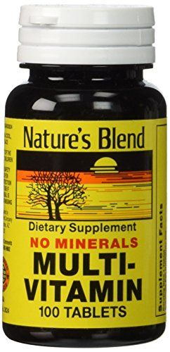 Natures Blend MultiVitamin No Minerals 100 Tabs >>> Learn more by visiting the image link.