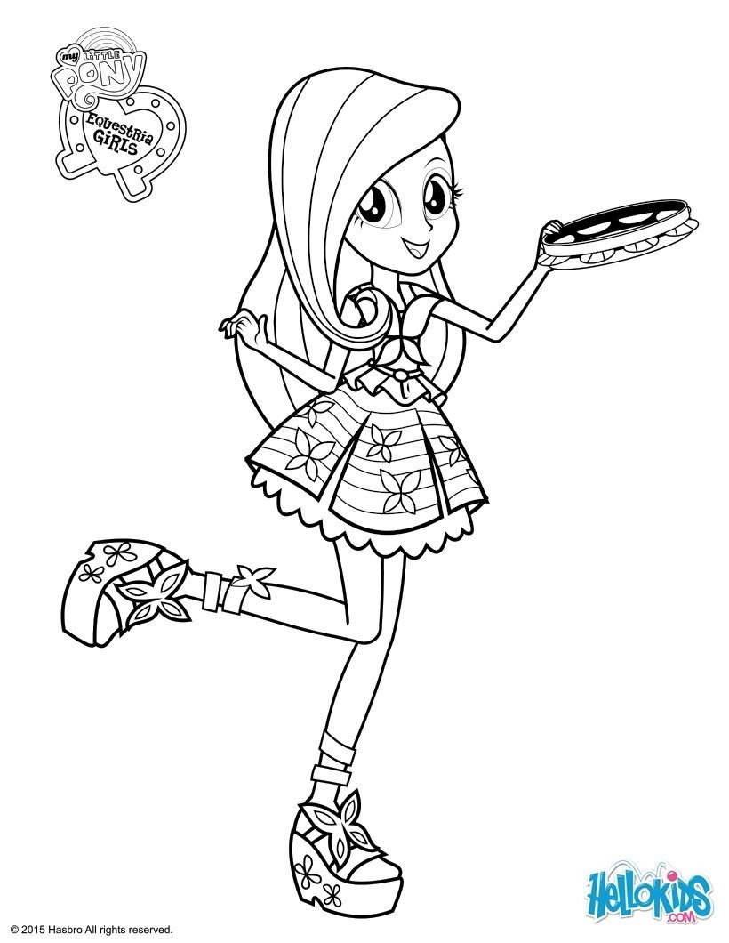 My Little Pony Equestria Girl Coloring Pages Kids Pinterest