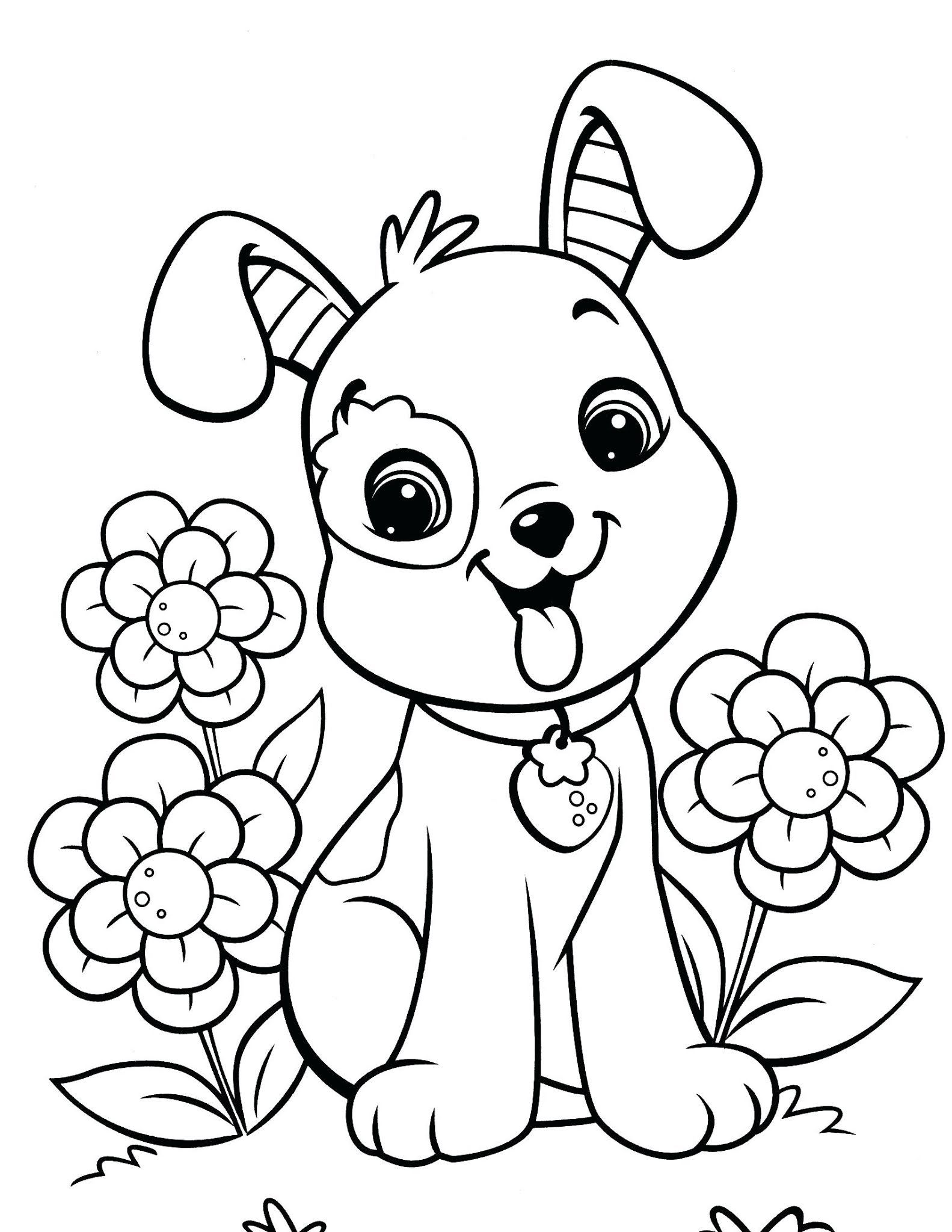 Free Preschool Coloring Sheets Tag Staggering Printable Top Cool Book For Toddlers Preschool Co In 2020 Puppy Coloring Pages Dog Coloring Page Valentine Coloring Pages