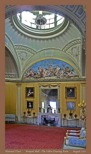 Punch Interior Design Furniture Options ~ Wimpole hall the yellow drawing room historical