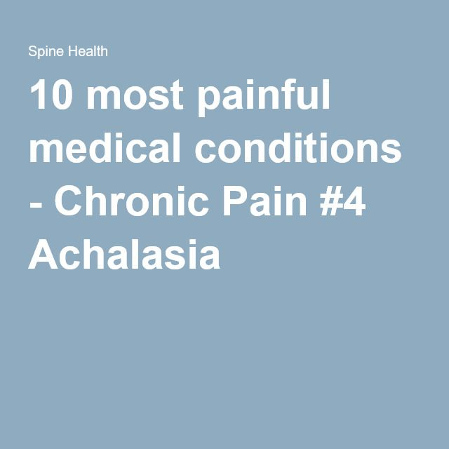 10 most painful medical conditions - Chronic Pain #4 Achalasia