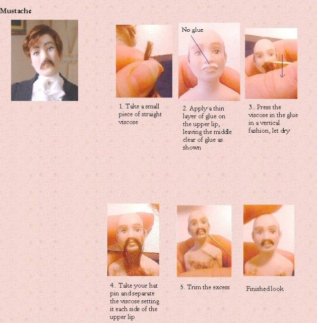 how to wig a doll (several tutorials) Gisele's Miniature Creations