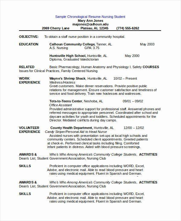 Free Resume Templates Pdf Lovely Chronological Resume Template 28 Free Word Pdf Chronological Resume Template Chronological Resume Job Resume Template