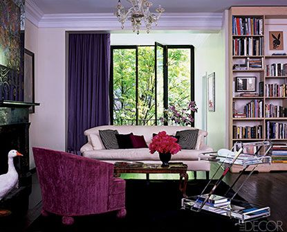 This Room Is Unified By The Common Color Of Violet Tint On