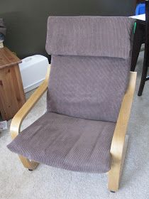 Poang Chair Slip Cover Tutorial   Slipcovers for chairs, Diy