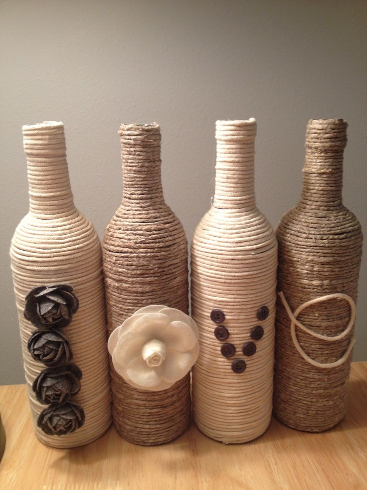 Cute And Easy Craft For Recycling Your Used Wine Bottles  Kate Design Inspirations