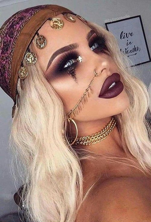 Halloween, makeup, and girl image Halloween Pinterest Girls - cute makeup ideas for halloween