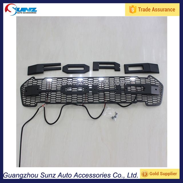 Source Exterior Accessories Front Grille Fit For Ford Ranger Wildtrak 2015 2016 Abs Front Grill