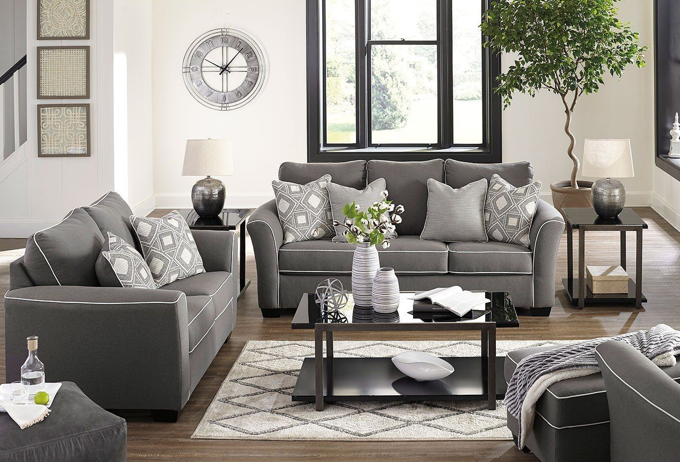 Domani Charcoal Living Room Set Charcoal Living Rooms Living