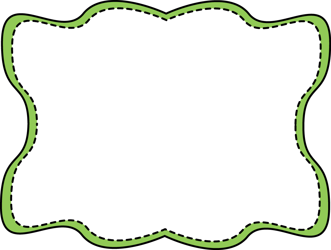 Green Wavy Stitched Frame Png 1 162 878 Pixels Clip Art Borders Free Clip Art Frame Clipart