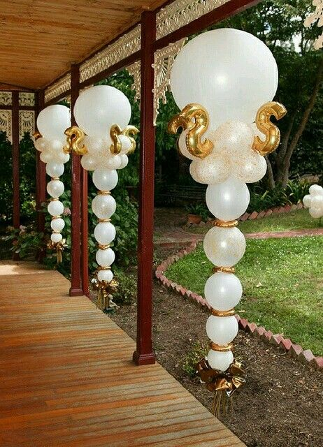 Decoracin con globos para boda Parties Pinterest Balloon