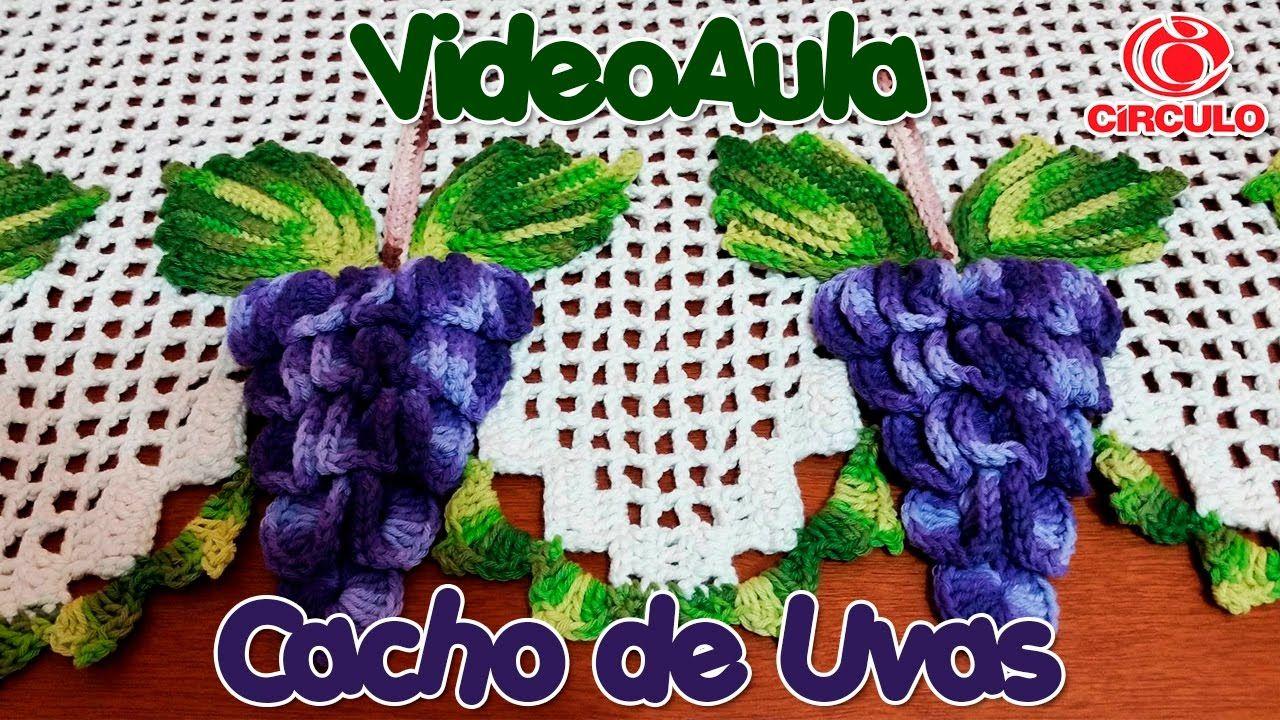Cacho de Uvas em Crochê | CROCHET / FRUTAS Y VERDURAS | Pinterest