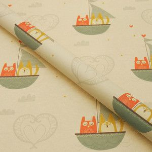 Owl And Pussycat Wrapping Paper now featured on Fab.
