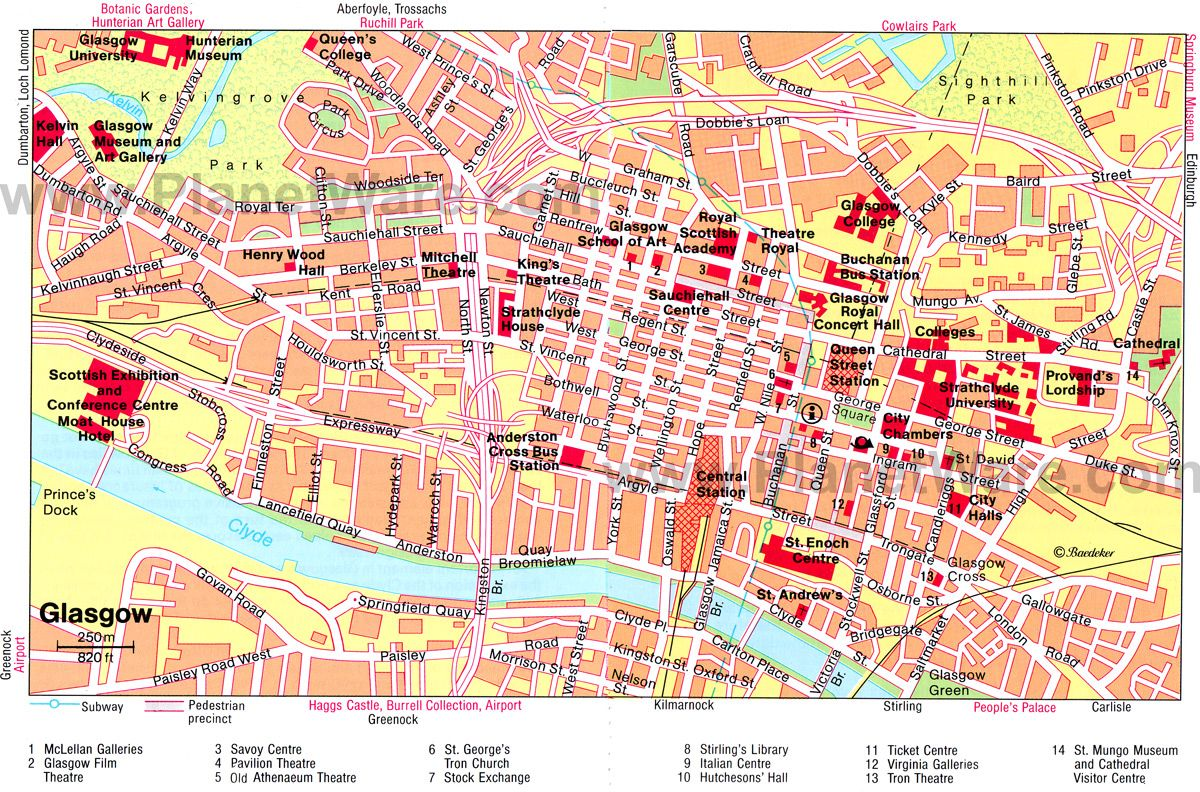 Glasgow City Center Glasgow Pinterest Scotland City And - London city map with attractions