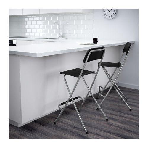 Franklin Tabouret De Bar A Dossier Pliable 63 Cm Ikea