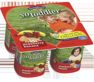 Strawberry Banana Organic YoToddler Meals DHA Yogurt Nutrition Information