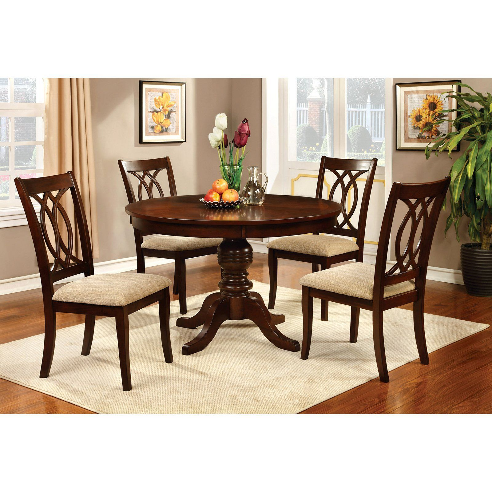 Furniture Of America Frescina Round Dining Table From Hayneedle