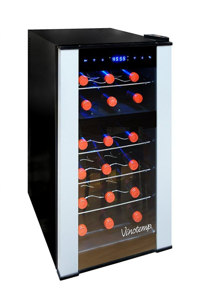 Vinotemp Vt 18pted 2z 18 Bottle Dual Zone Thermoelectric Wine Cooler Review Electronics Critique
