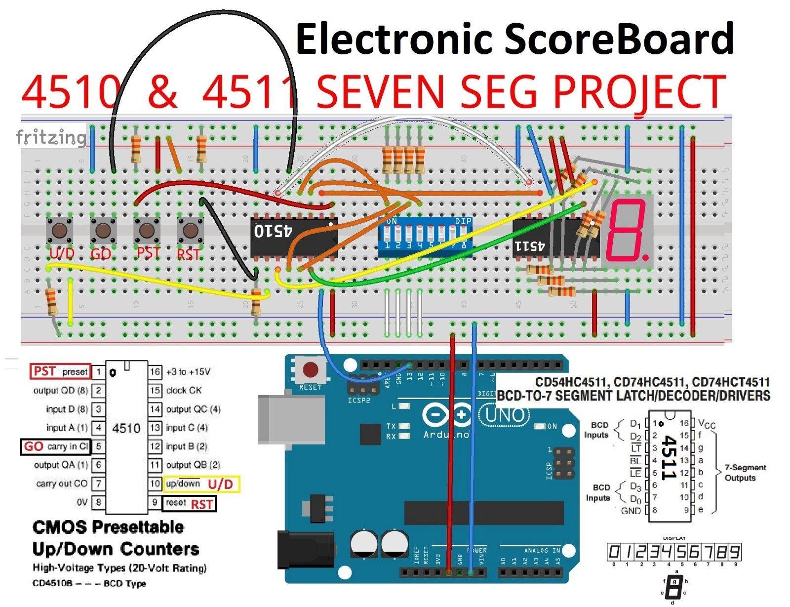 Scoreboard Circuit Diagram In 2020 Circuit Diagram Scoreboard Circuit