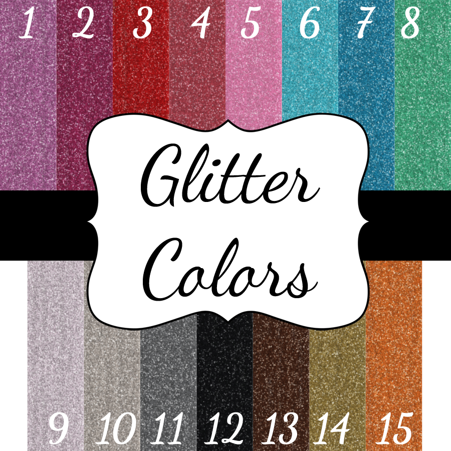 Customized Wedding Creations Glitter Color Chart Martha Stewart