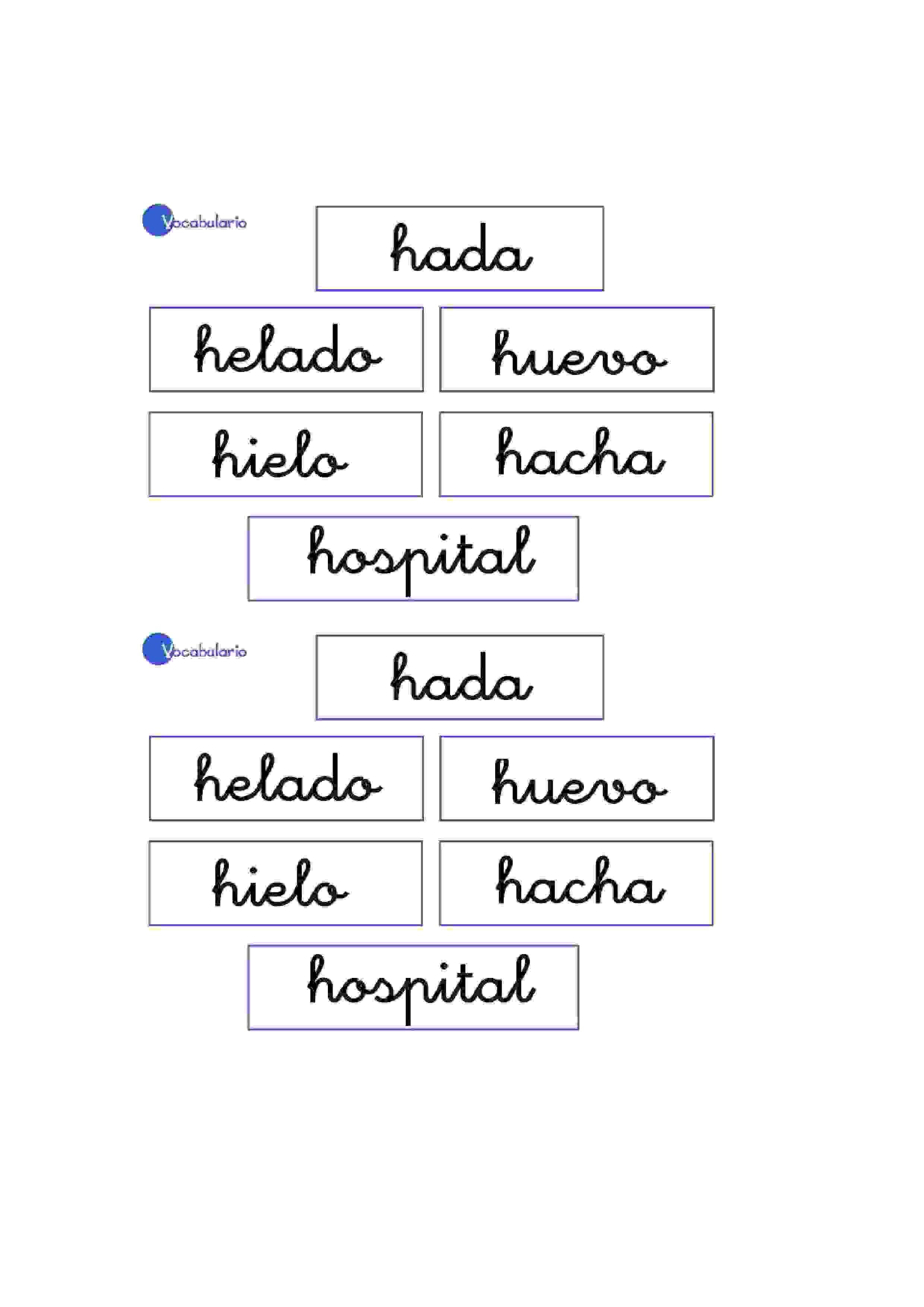 Lernübungen für kinder zu drucken. Vokabular Spanisch zu lernen 8 ...