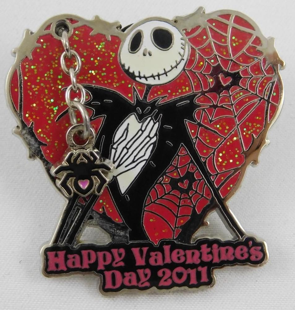 Disney Happy Valentine\'s Day Jack 2011 Pin LE 1500 Nightmare Before ...