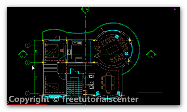 Villa Plan Autocad Project Villa Plan Dwg Engineers Home Villa Plan Autocad Villa