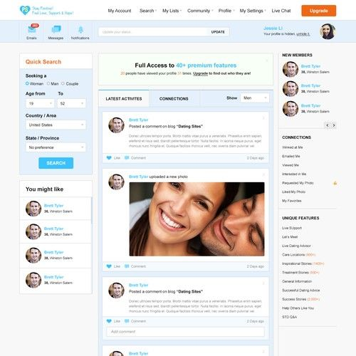 Private dating site