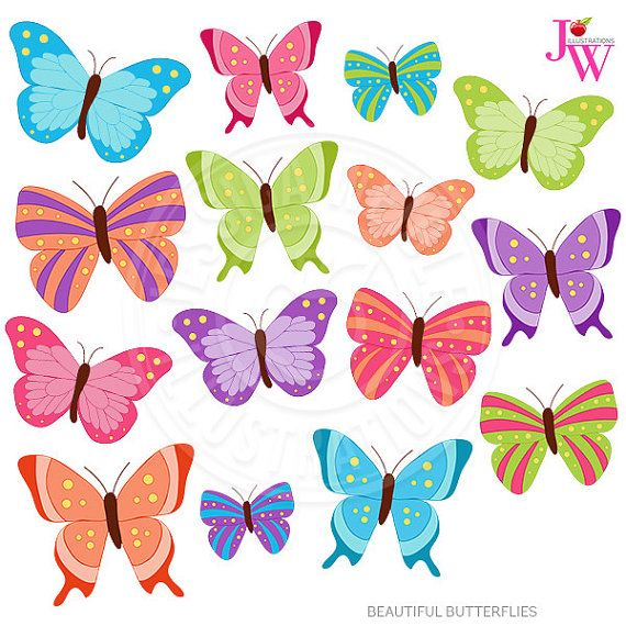 beautiful butterflies cute digital clipart butterfly clip art rh pinterest com clipart of butterfly wings clipart of butterfly fish