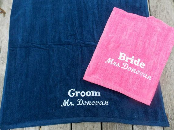 Lg Couples Personalized Beach Towels By Crafting4caleb Perfect