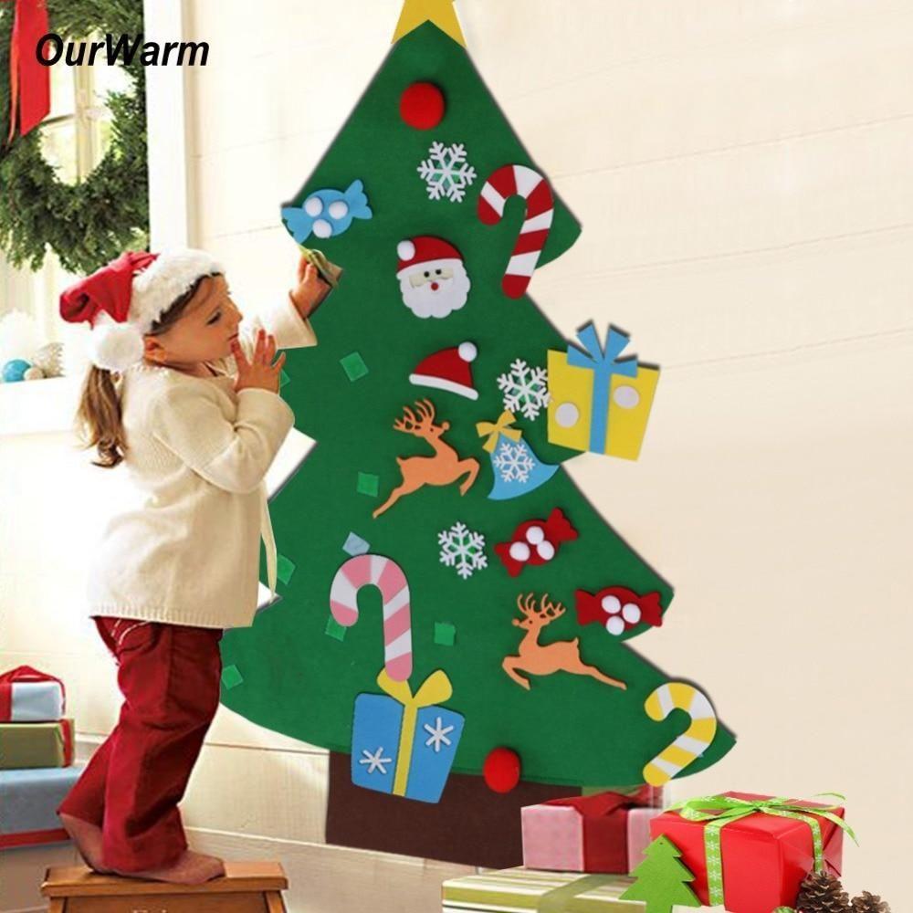Diy Felt Christmas Tree Best Gift For Children Diy Felt Christmas Tree Diy Christmas Tree Christmas Trees For Kids