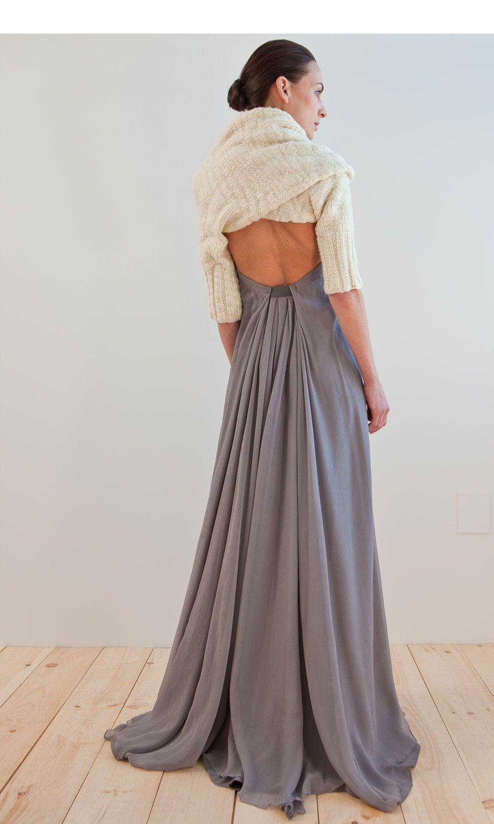 NFP    felted silk halter gown  http://nfpstudio.com/lookbook/series-5-fw2011/look-r/