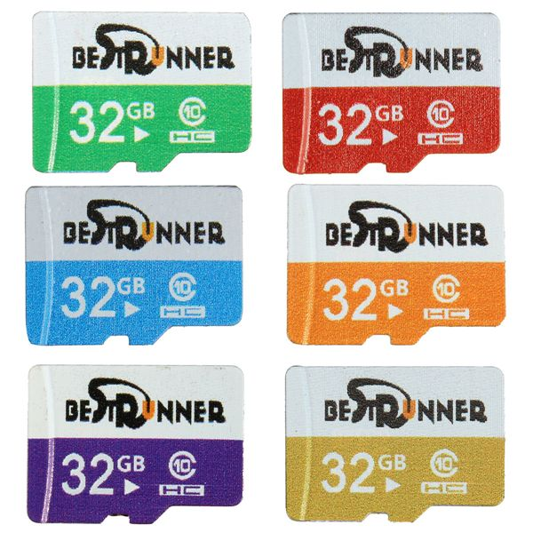 Bestrunner 32GB Class 10 Speed Multi-color TF Card Flash Memory Card