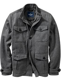 d183b0bada9 Men's Wool-Blend Four-Pocket Jackets | Old Navy MAYBE TOO CASUAL FOR WORK