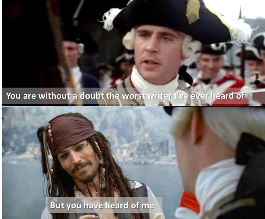 The Captain Jack Sparrow frame of mind. | Write Advice | Pinterest ...