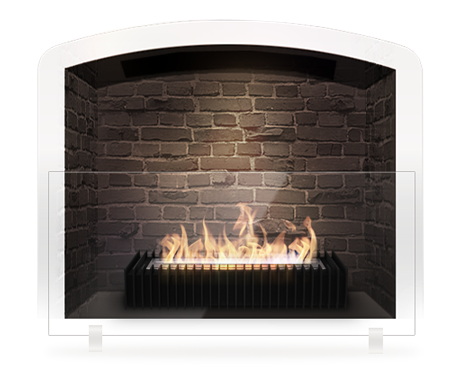 Eco fireplace grate- no chimney needed. Perfect for a faux ...