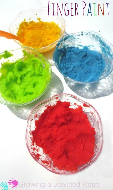 Easy peasy fingerpaint recipe safe for even the littlest of littles ...
