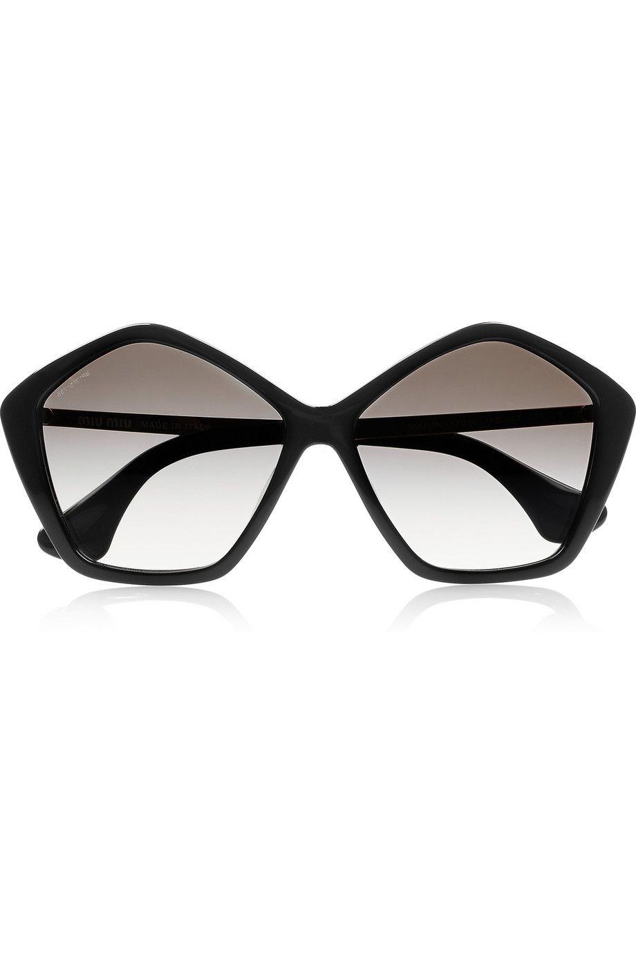 4124ceaa155f Miu Miu Pentagon-frame acetate sunglasses  TheVillage  Westfield   AutumnWinterFashion