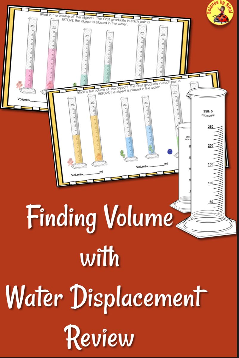 Finding Volume With Water Displacement Back To School Activity Review Worksheet Back To School Activities Finding Volume Middle School Science Resources