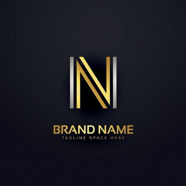 Download Gratis Creatieve Letter N Ontwerp Sjabloon Luxury Logo N Logo Design Initials Logo Design