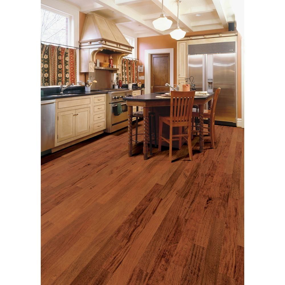 Home Legend Hand Sed Mahogany Natural 1 2 In T X 5 3 4 W Varying Length Engineered Hardwood Flooring 22 68 Sq Ft Case
