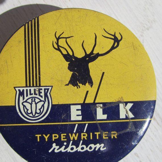 Elk typewriter ribbon tin